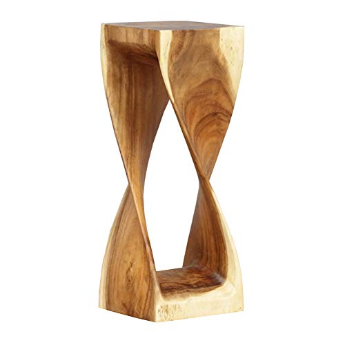 Stool Creative Color Solid Wood Stool Home Sitting Pier Art Simple Sofa Stool WEIYV (Color : Wood-Color, Size : 282876cm)