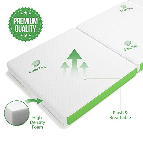 Cushy Form Tri-Fold Folding Mattress & Carry Case