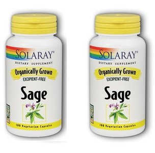 (Organic Sage Solaray 100 VCaps (Pack of 2))