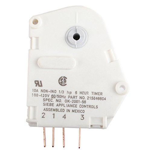 120V 6 Hour 21 Minutes AP2592907 Defrost Timer for Frigidaire 215846604 Fits Refrigerators and Freezers (Defrost Package)
