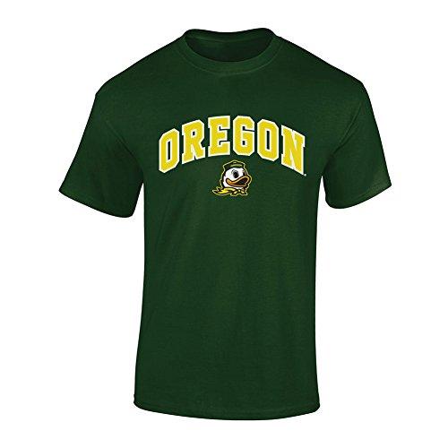 Elite Fan Shop NCAA Oregon Ducks Mens NCAA T Shirt Team Color ArchNCAA T Shirt Team Color Arch, Forest Green, Large - Oregon Ducks T-shirt