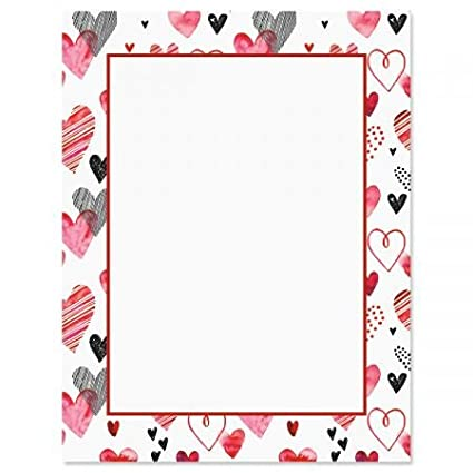Amazon Com Loads Of Love Letter Papers Set Of 25 Valentine