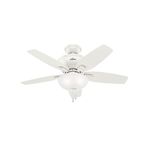 Hunter 51100 Kenbridge 42 Ceiling Fan with Light, Small, Fresh White