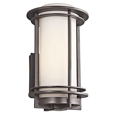 """Kichler 49345 Pacific Edge Single Light 13"""" Tall Outdoor Wall Sconce with Cylind,"""