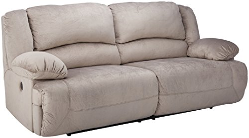 Durablend Reclining Sofa (Ashley Furniture Signature Design - Toletta Power Reclining Sofa - 2 Seat Upholstered Couch Recliner - Granite)