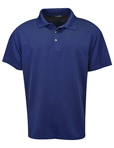 Van Heusen Men's Air Short Sleeve Polo, deep Blue Depths, Medium -