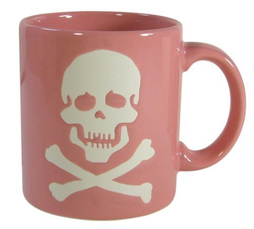 Waechtersbach Mugs, Pink Skull, Set of 4 by Waechtersbach (Image #1)