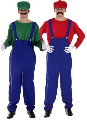 TrendyFashion Hombre Super Mario Bro Luigi Trabajo Disfraz para ...