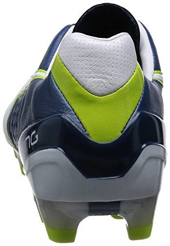 Puma King II FG - zapatillas de fútbol de cuero hombre Azul - Blau (majolica blue-white-lime punch 01)