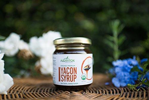 4 Pack Yacon Syrup - USDA Certified Organic Natural Sweetener - All-Natural Sugar Substitute - 8 Oz. SafeGlass Jar - Keto Vegan & Gluten Free by Alovitox (Image #5)