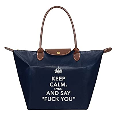 8f52d0518d Fanboupout Keep Calm And Say Fuck You Large Tote Bags Multifunction  Waterproof Shoulder Handbags With Zipper