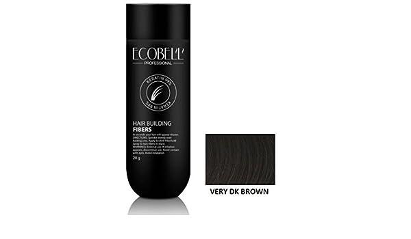 Ecobell - Microfibra de queratina, 28 gr - Castaño oscuro intenso.: Amazon.es: Belleza