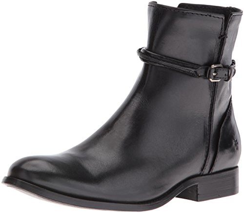 FRYE Women's Melissa Seam Short Boot, Black, 7 - Frye Melissa Black Boot
