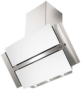 Mepamsa Nacar pro - Campana (830 m³/h, Recirculación, 65 dB, Wall-mounted cooker hood, Plata, Color blanco, 3 lamp(s))