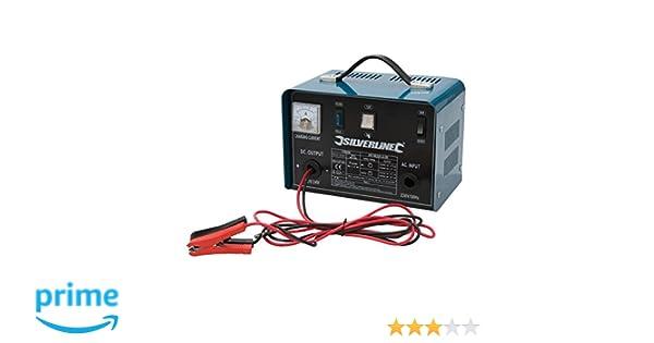 Silverline 178555 - Cargador de batería 12/24 V (Para baterías de 20-240 Ah): Amazon.es: Bricolaje y herramientas