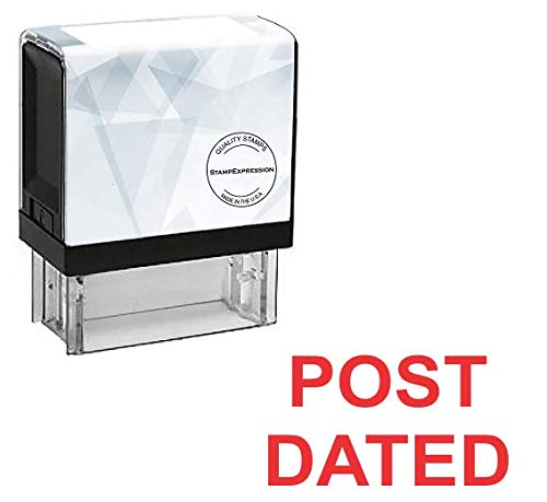 StampExpression - Post Dated Office Self Inking Rubber Stamp - Red Ink (A-5767)