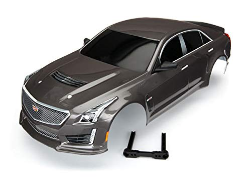 Traxxas TRA8391X Body, Cadillac CTS-V, Silver (Painted, Decals Applied)