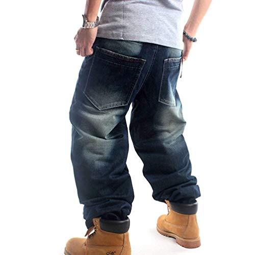 Clásico Hop Dunkelblau Popular Centro Chicos Denim Tarde Mezclilla De Pants Hip Pants Dancing Hombres Pantalones Bordado Niños Estampado Jeans wz8UxI