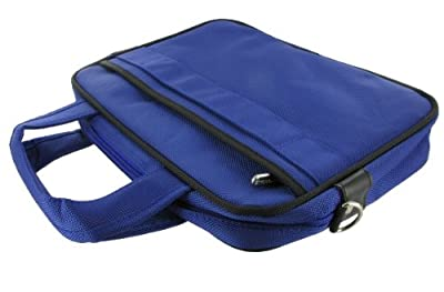 rooCASE Tablet Carrying Bag for ViewSonic ViewPad 10 10.1-Inch Dual Boot Tablet - Deluxe Series Dark Blue / Black