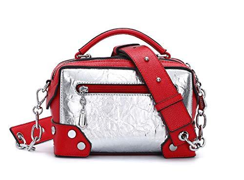 hombro y mano Shoppers Carteras clutches bandolera bolsos DEERWORD Bolsos Mujer de de Burdeos y qRf6Zwxa