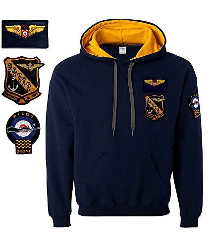 con Gen con Aviazione Gen Cappuccio Cappuccio Felpa Felpa con Felpa Aviazione Gen qqwgSTA