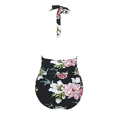 CUPSHE Women's Keep Secrets Halter One Piece Swimsuit Beach Swimwear at Women's Clothing store