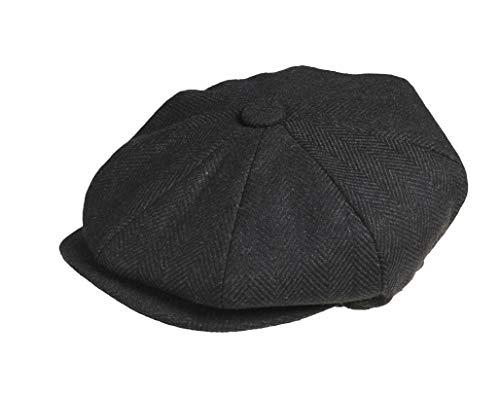 907c40cb6080c Peaky Blinders Men s 8 Piece  Newsboy  Style Flat Cap Wool