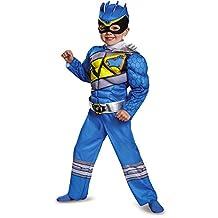 Power Rangers Dino Super Charge Toddler Boys Blue Ranger Costume Jumpsuit