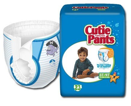 Cuties Refastenable Training Pants- Boys (2T to 3T (Up to 34 lbs)- 26/bag)