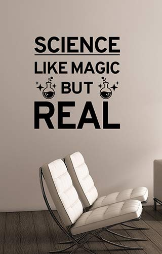 Science Like Magic Chemistry Inspirational Quote Vinyl Wall Decal Education Study Learn Sticker Knowledge Saying Art Decorations for School Classroom College Room Laboratory Decor ed21 (Quotes Home Christmas Improvement)
