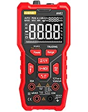 AN82 9999 Sayımlar VA Ekran Otomatik Yüksek Hassasiyetli Dijital Multimetre TRMS NCV Evrensel Ölçer AC/DC Akım için Çoklu Test Cihazı AC/DC Gerilim ve Frekans Direnç Kapasitesi MAYIO