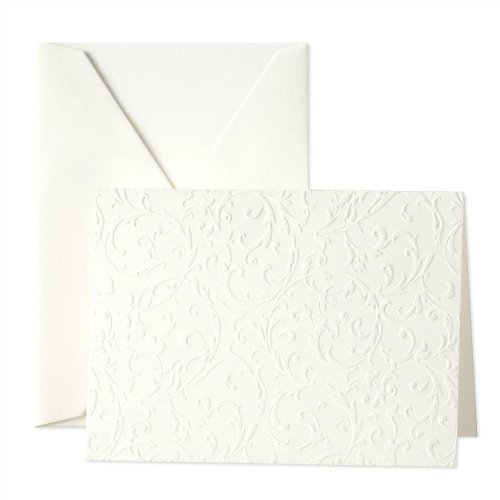 Crane & Co. Blind Embossed Pearl White Notes (CF1162) Blind Embossed