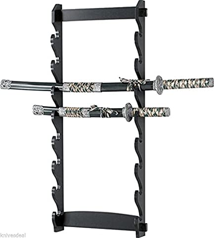 NEW! 8 Tier Sword Wall Display Stand Rack only - Excalibur Folding Knife