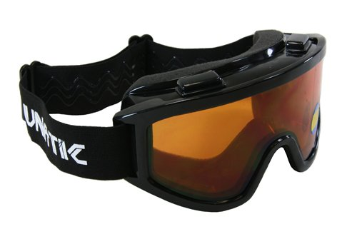 Lunatic, L-100D, Adult Dual Lens Goggles - Black with Amber Lens - Motocross ATV - Goggles Amber
