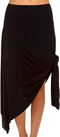 Magicsuit Womens SwimwearJersey Handkerchief Swimsuit Cover Up Skirt with Wrinkle-Free Fabric