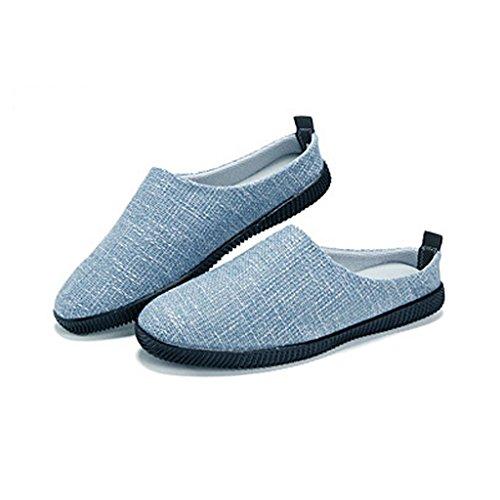 UK9 Cachi canvas Pantofole EU43 dimensioni estivo pigre Scarpe shoes XIANG lino di tela CN45 SHOP SHI all'esterno da Scarpe Colore 5 casual Pantofole Blu LI di Baotou uomo qwA61Stnx