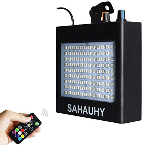 Strobe Lights,SAHAUHY 25W 108 LEDs Super Bright Mixed Party Strobe Light with Sound Activated Mode & Adjustable Flash Speed Control (Black -
