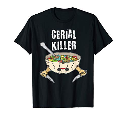 Funny Cereal Killer Tshirt Cereal Box milk with sugar nugget