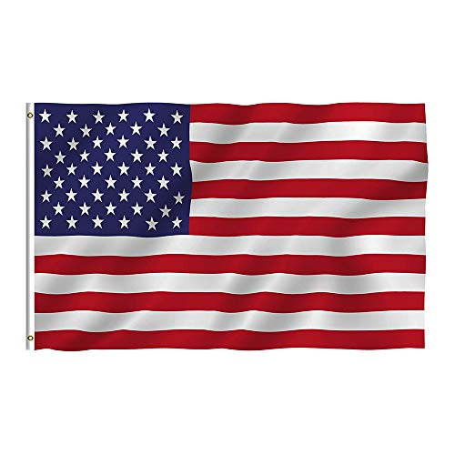 Oniche USA/US Flag 3X5 FT American Flag Polyester National Flags Indoor Outdoor Flags Vivid Color Flag with Brass Grommets(US Flag) Review