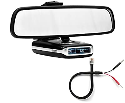 Radar Mount Mirror Mount Radar Detector Bracket + Mirror Wire Power Cord - Escort MAX MAX2