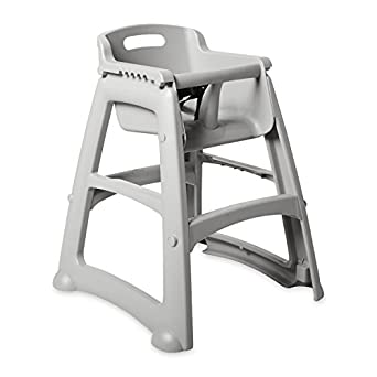 """Rubbermaid FG781408 Platinum Sturdy Chair Youth Seat without Wheels, 23.5"""" Length, 23.5"""" Width, 29.75"""" Height"""