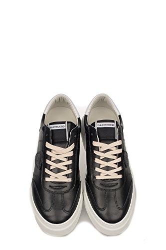 Modello Philippe Mens Baluv006 Sneakers In Pelle Nera