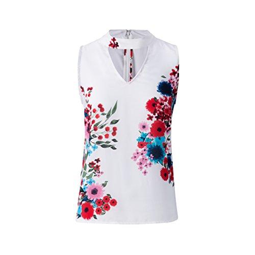 Tronjori Womens Floral Print Tunic Tank Top (L) ()