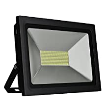 SOLLA 100W Super Bright LED Flood Light Outdoor Security Lights, 8600lm,488LEDs,Warm White, 3500K, Waterproof LED Spotlight Outdoor Wall Lights