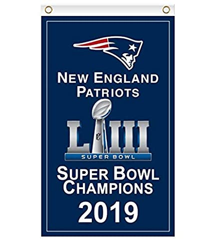 224fc4a35a4 Amazon.com   Reddingtonflags New England Patriots Super Bowl LIII Champions  Flag Banner   Garden   Outdoor