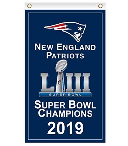 Reddingtonflags New England Patriots Super Bowl LIII Champions Flag Banner -