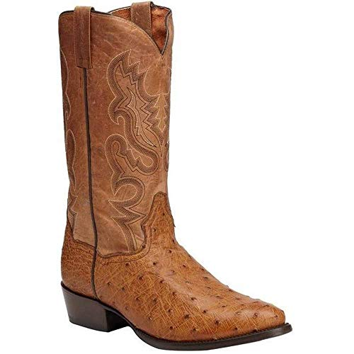 Men's Dan Post Tempe Full Quill Ostrich Boots Handcrafted ()
