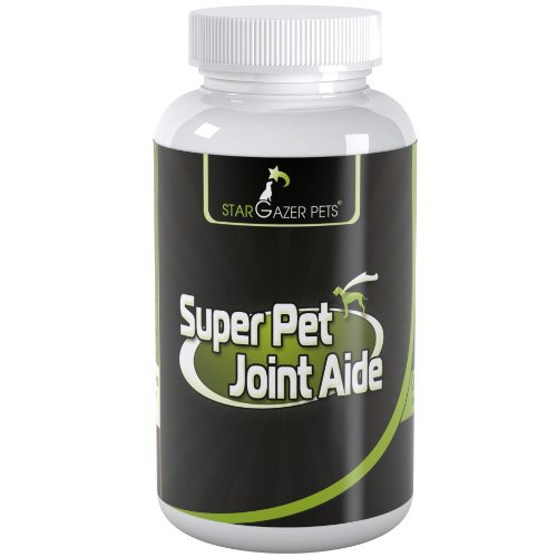Super Pet Joint Aide Supplement - MSM Glucosamine Supplements for Pet Joint Health Care - Bioavailable Pet Vitamin for Senior Cats and Elderly Dogs with Joint Pain or Arthritis - Money Back Effectiveness Guarantee