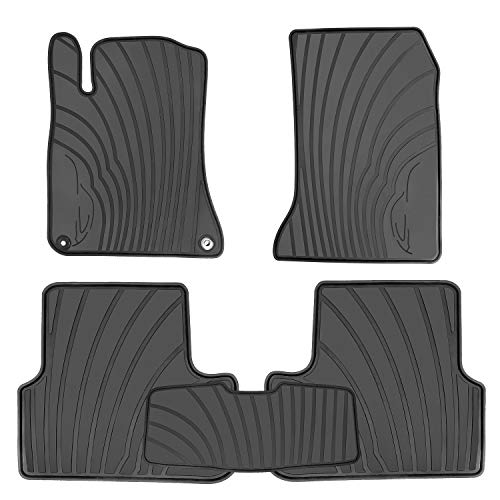 HD-Mart Car Floor Mats Mercedes Benz A Class(2012-2019)/B Class(2013-2019), GLA(2014-2019), Custom Fit Black Rubber Car Floor Liners Set for All Weather Protection - Heavy Duty & Odorless
