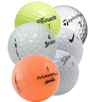 Assorted Recycle Golf Balls Hit Away Practice Recycled Golf Balls (Pack of 200)]()